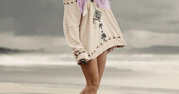 beach hair, awesome shirt!
