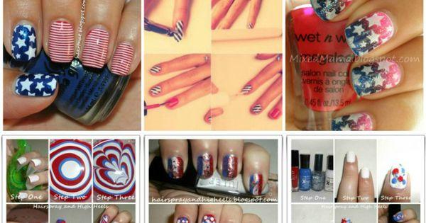 13 Patriotic Manicures via Hair Spray and High Heels