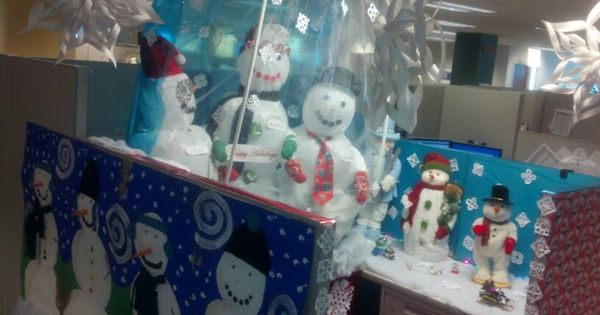 Snow Globe Cubicle Decorating Creativity I Got Skillz