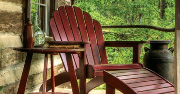 Adirondack chaise lounge decor cabin cozy pinterest for Adirondack chaise lounge