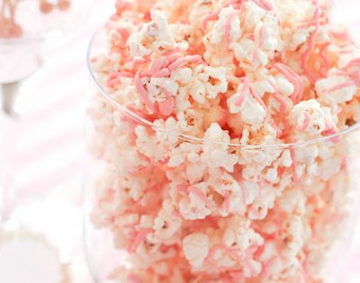 Pink baby shower! Great bridal shower snack to munch on - matching