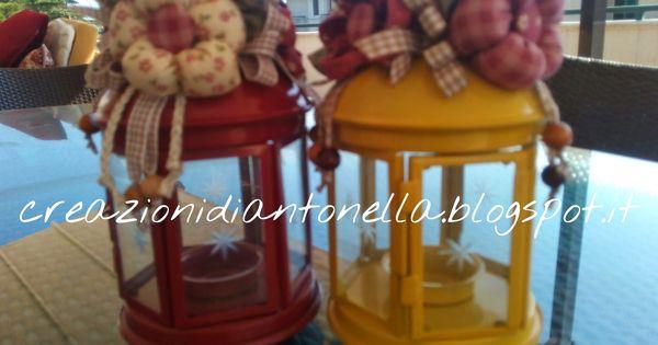Le creazioni di antonella lanterne abbellite con fiori - Lanterne portacandele ikea ...