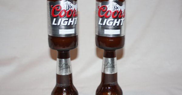 Recycled Beer Bottle Coors Light Goblet by ...