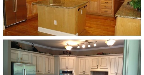 Best Before And After Painted Maple Cabinets Kitchen 400 x 300