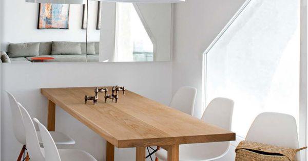 Salle à manger et table en bois sur mesure, chaises esprit scandinave ...
