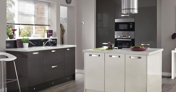 Greenwich gloss graphite kitchen range kitchen families for Kitchen joinery ideas