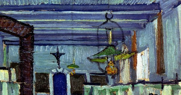 Ward in the Hospital in Arles (detail), Vincent van Gogh 1889 -admittedly