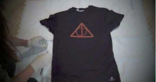 Diy c mo customizar una camiseta youtube diy fashion - Plantillas para pintar camisetas ...