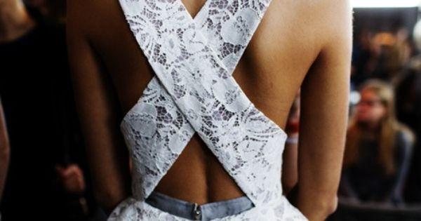 Criss Cross Lace Dress