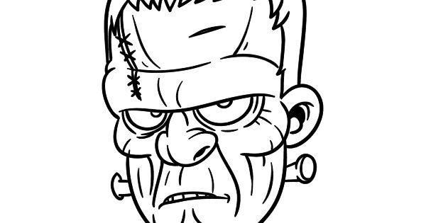 Dibujo De Cara De Bruja Para Colorear: Dibujo De Cara De Frankenstein Para Colorear