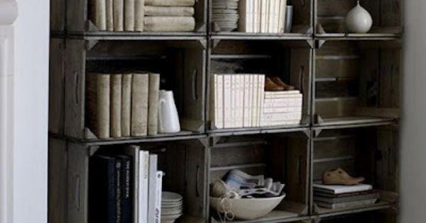 $10 DIY Crate Bookshelves