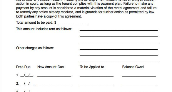 Payment Plan Agreement Template Free Word Pdf Documents Templates