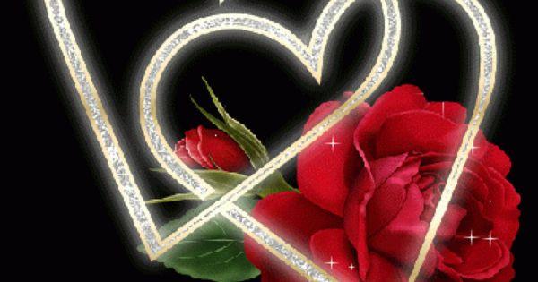 Animated Photo Hearts Roses Heart Rose