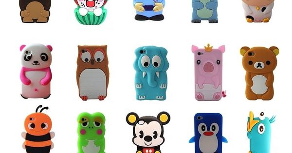 Love these animal phone cases! So adorable. Cartoon Animals Silicone Rubber Gel Tpu Case Cover Skin For iPhone 4 4s 5 5s 5c UnbrandedGeneric