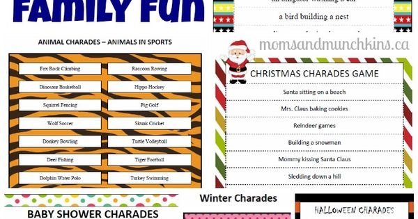 Printable Charades For Family \u2013 Best Cars 2018