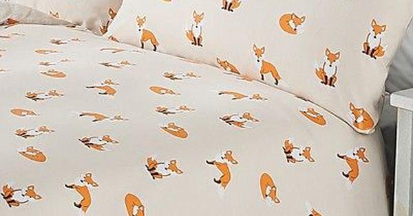 Shabby Chic Animal Fox Print Duvet Cover Set Size Single Double King Duvet Bedding George Home Duvet Cover Sets