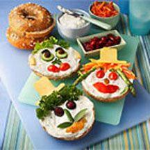 Bagel Face Sandwiches. | Rezeptideen, Lebensmittel essen, Sandwich ...