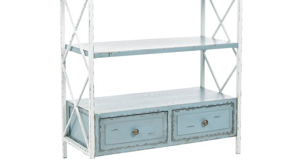 @Overstock.com - Safavieh Saffron Pale Blue Storage Console Table - Add a