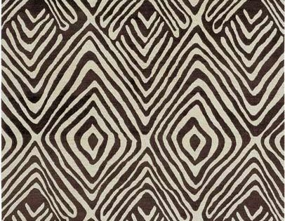 Tribal Diamond By Dvf Inspired By Nepalese Rug Brown And