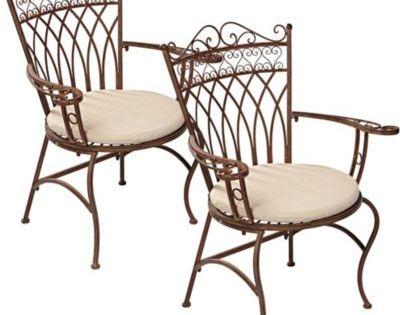 gartenstuhl-set aus metall, antik-braun, 2-teilig jetzt bestellen, Gartenarbeit ideen