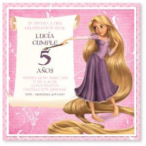 Detalles En Papel Tienda De Tarjetas Rapunzel Para Lucía