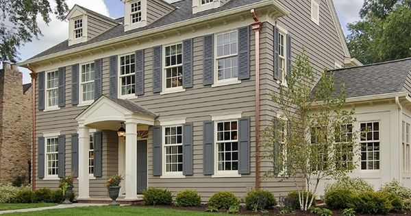 Traditional exterior color scheme for colonial salt box - Colonial house exterior renovation ideas ...