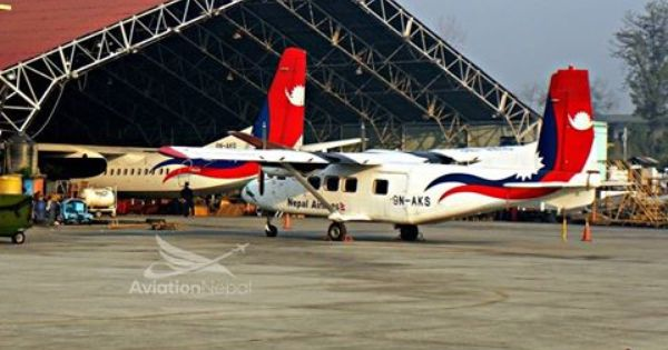 Airline Nepal Airlines Aircraft Xian Ma 60 Registration 9n Akq Aircraft Harbin Y 12e Registration 9n Aks At Nac Hang Nepal Airlines Aircraft Airlines