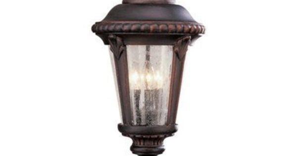 Trans Global Lighting 5047 Rt Estate 3 Light Outdoor Post Rust By Trans Global Lighting 169 10 B Bel Air Lighting Iron Lighting Light Bulb Bases