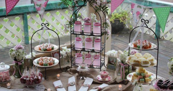 Styling Event Bridal Shower Tea Shower Set Tea Party