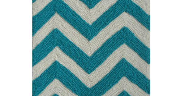 Turquoise Amp White Chevron Rug Chevron Pinterest