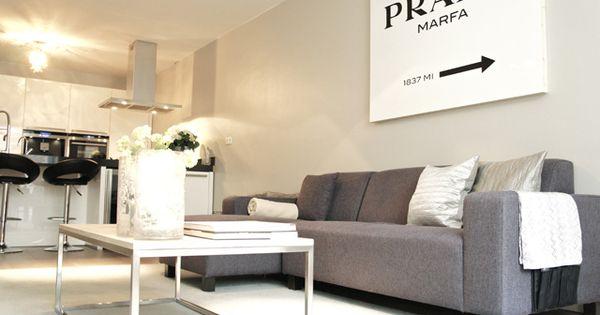 Interior design beautiful stylish amsterdam home with prada marfa wall decoration and grey - Home prada design ...