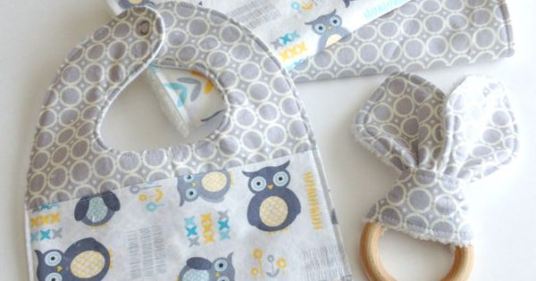 Neutral Baby Gift Sets : Gender neutral gift set baby burp cloths