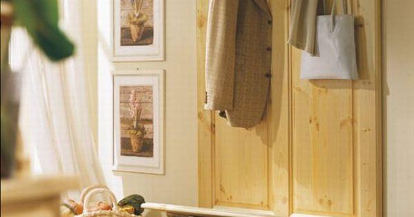 Arredamento in pino per l 39 ingresso cassapanca in pino for Ingresso anteriore del mudroom