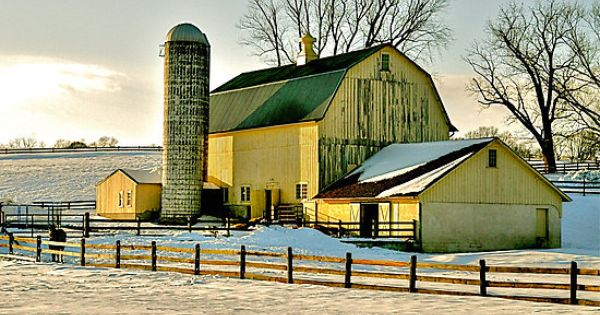 yellow barn - love this! I love old barns!