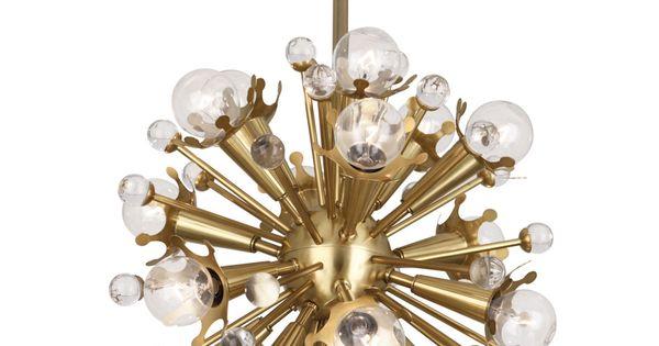 Jonathan Adler Sputnik 18-Light Antique Brass Pendant Light