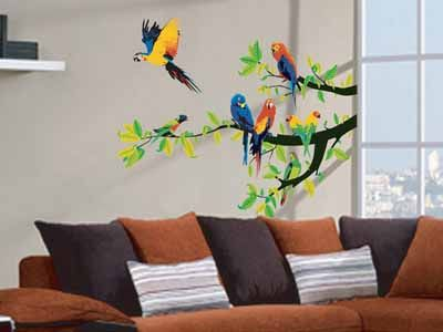 Parrot Crane Owls Home Bedroom Decor Removable Wall Stickers Decals Decoration