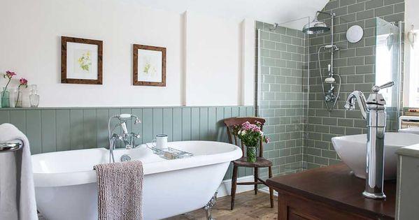 Modern Meets Victorian Bathroom Wood Look Ceramic Floor