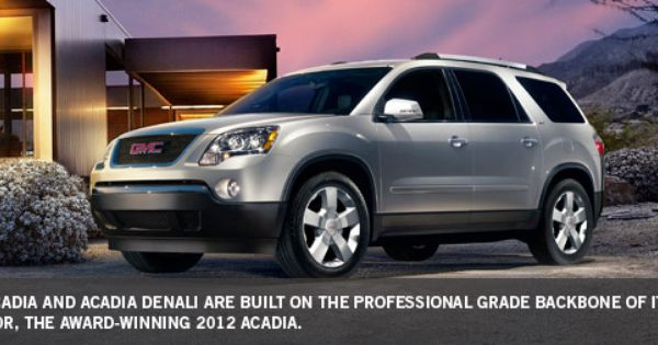 2012 Gmc Acadia Crossover Cars Best Midsize Suv Buick Envision