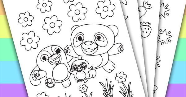 Ruff-Ruff Tweet Dave Birthday Favors 4 Coloring Pages