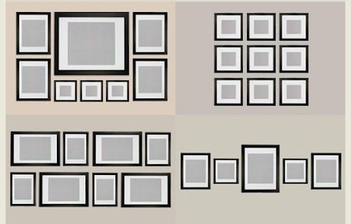 Wall Display Guides for hanging picture frames, gallery wall