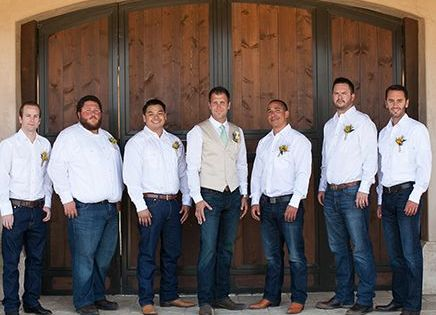 LOVE This Look Of All The Men In Jeans Boots And Crisp White Shirts With The Groom Wearing The