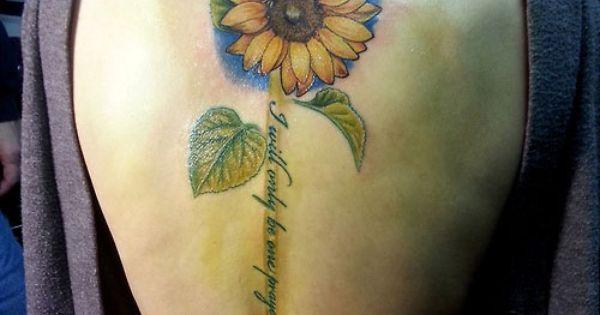 unique sunflower memorial tattoo   Sunflower & Quote ...