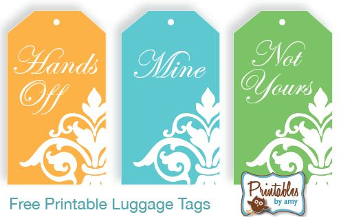 Fun luggage tags...