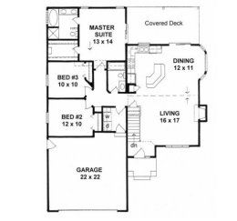 House Plans From 1300 To 1400 Square Feet Page 2 Craftsman Style House Plans House Plans Small House Plans