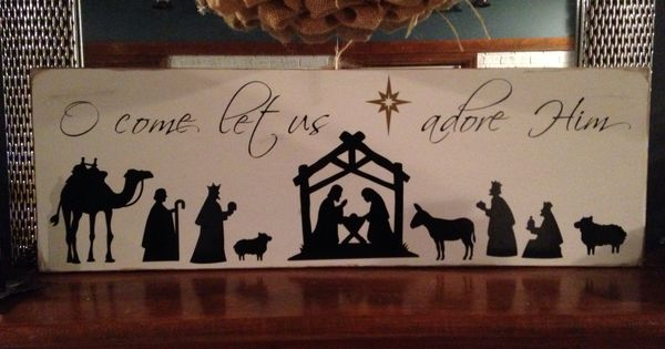 Nativity Signs Pinterest Silhouette Cameo Projects