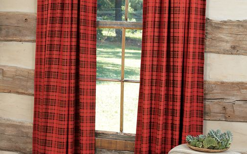 Red Black Buffalo Plaid Curtains Dream Cottage