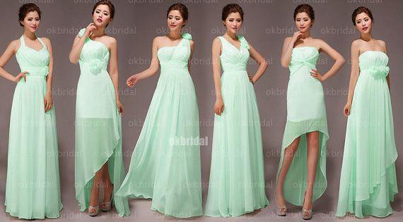 Mint Bridesmaid Dresses Mismatched  Mismatched bridesmaid ...