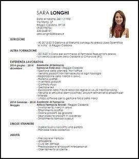 Risultati Immagini Per Esempi Di Buoni Curriculum Vitaee Cv Words Curriculum Vitae Nursing Resume Examples