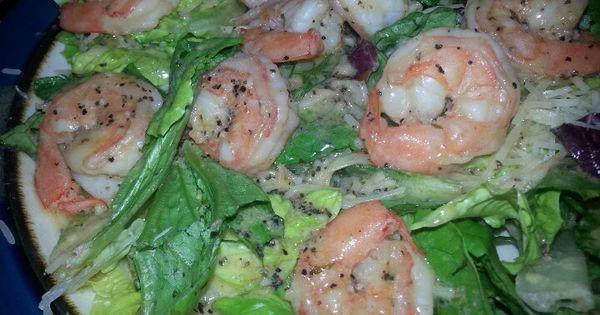 Salt & Pepper Shrimp with Garlic wine dressing | 6 Mixed Foods ...