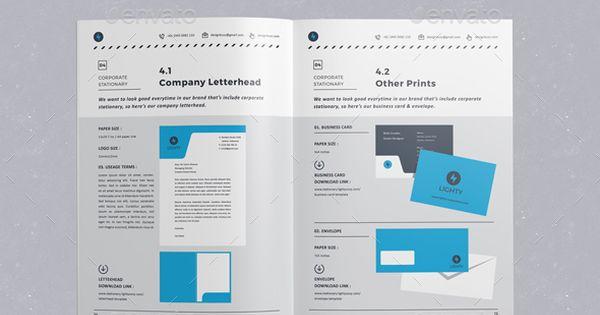 brand manual guidelines template indesign indd design download. Black Bedroom Furniture Sets. Home Design Ideas